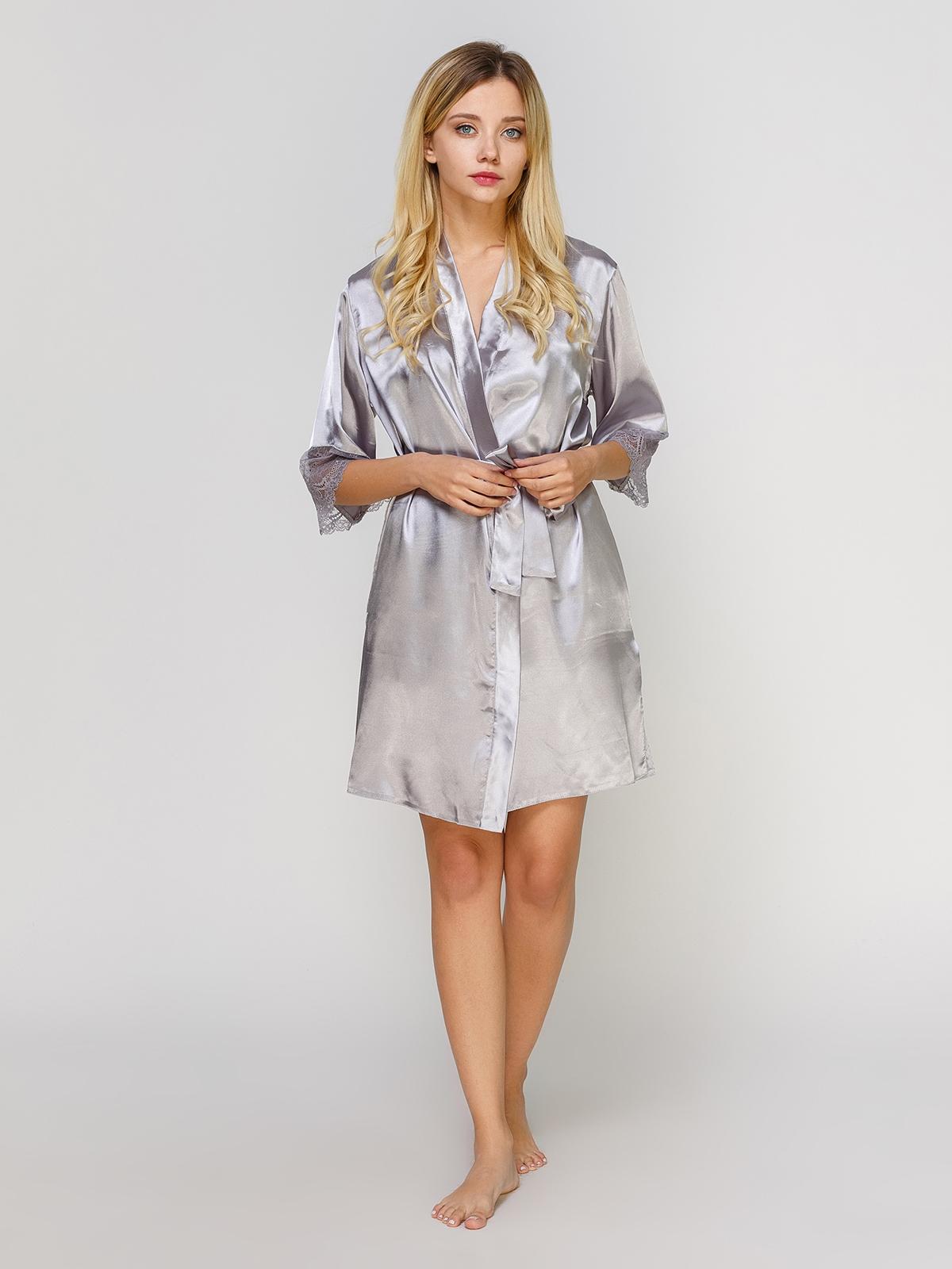 1bb8eb56aad1c Шелковый халат с кружевом - Serenade Lingerie фабрика женского белья ...